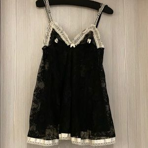 Agent Provocateur rare black lace babydoll m bows